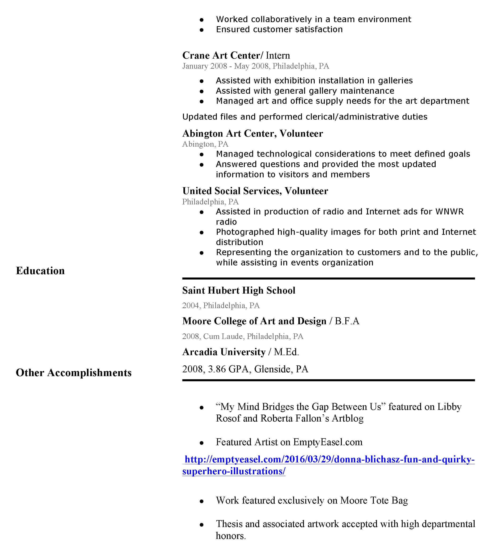 Artist Resume – Artist Resume